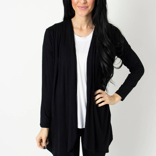 Black Pleated Cardi