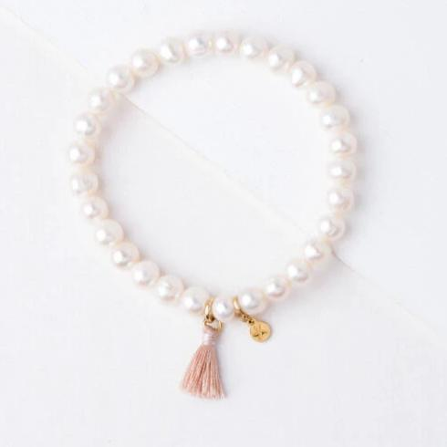 Pearl Bracelet with Tassel