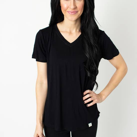 High/Low Womens V-Neck Tee