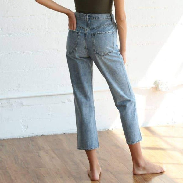 Straight Cut Relaxed  Jeans