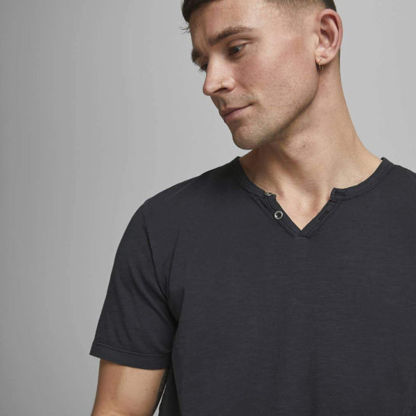 Mens Split Neck Tee