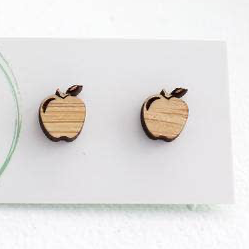 Apple Bamboo Studs