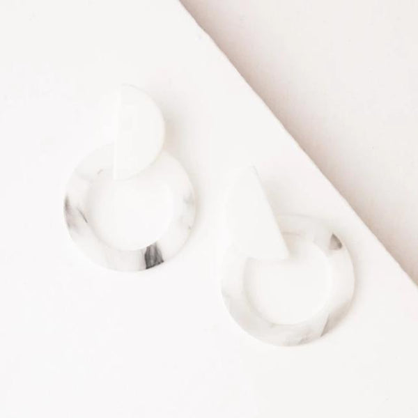 Zoe White Resin Earrings