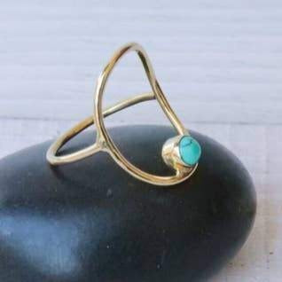 Oval with Turquoise Ring