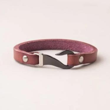 Genuine Leather Hook Bracelet