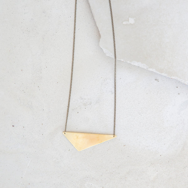 Offset Triangle Necklace