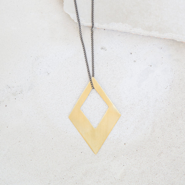 Brass Diamond Pendant