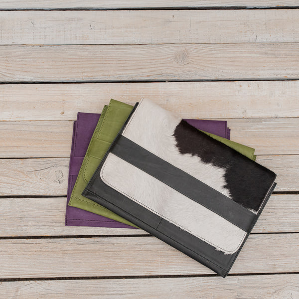Darota Laptop Sleeve with Animal Hide