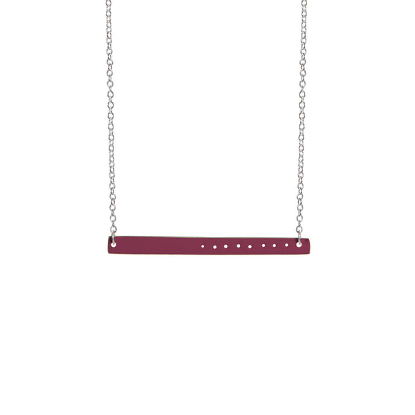 Enamel Brass Bar Necklace