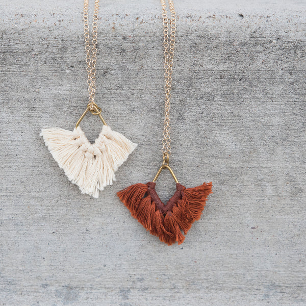 Diamond Fan Fringe Necklace