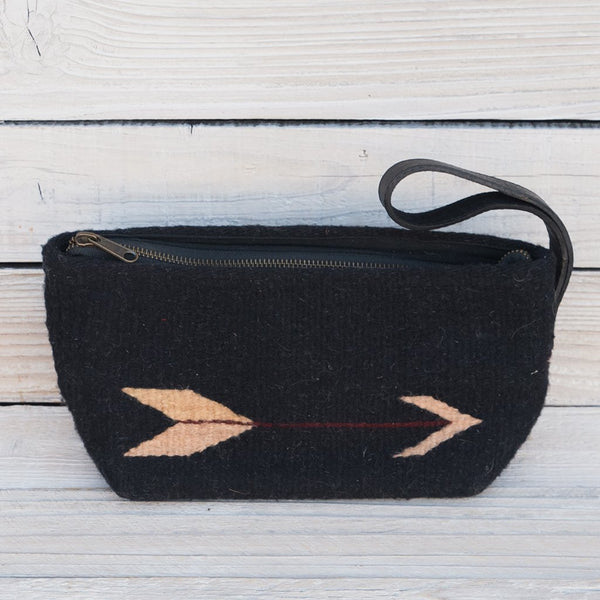 Arrow Wool Clutch