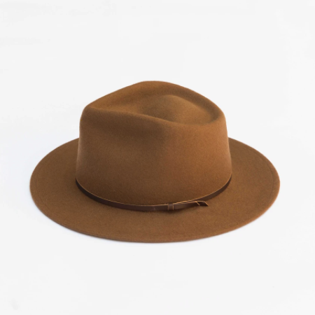 Eastwood Fedora in Caramel