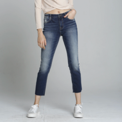 Stevie Crop Straight Jeans