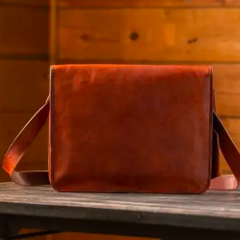 Kodiak Leather Messenger Bag