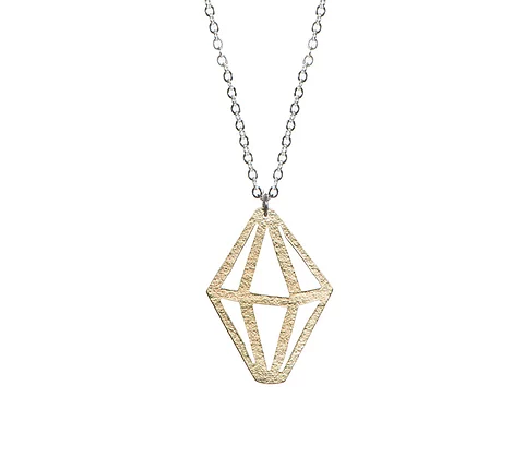 Brass Crystal Necklace