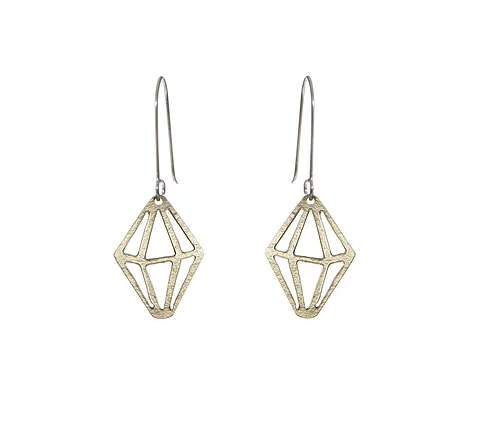 Brass Crystal Earrings