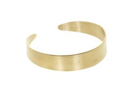 Dotted Brass Bangle Bracelet