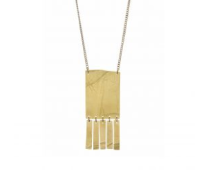 Brass Fringe Pendant Necklace