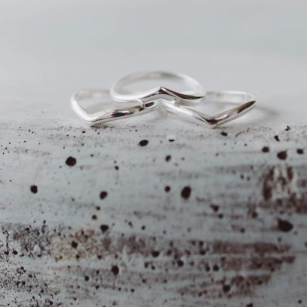 Stackable Winged Midi Ring