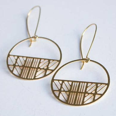 Art Deco Circle Earrings