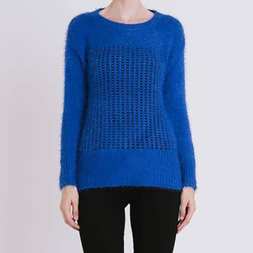 Grid Front Sweater