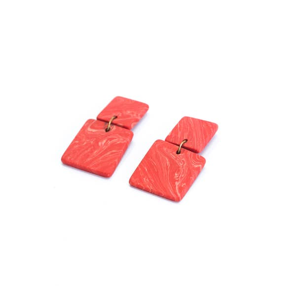 Square Clay Earrings