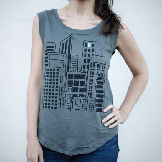 City Women's Cap Sleeve Tee