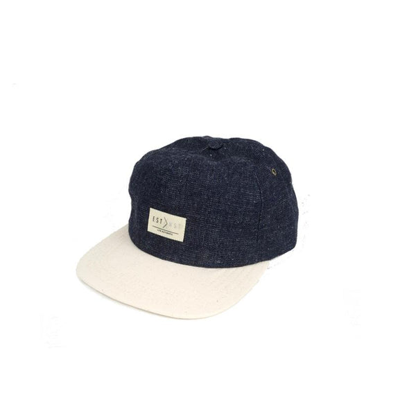 Denim Hemp Strapback Hat