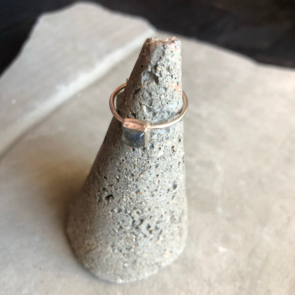 Sterling Silver Stone Stacking Ring