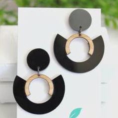 Midnight Black Statement Earrings