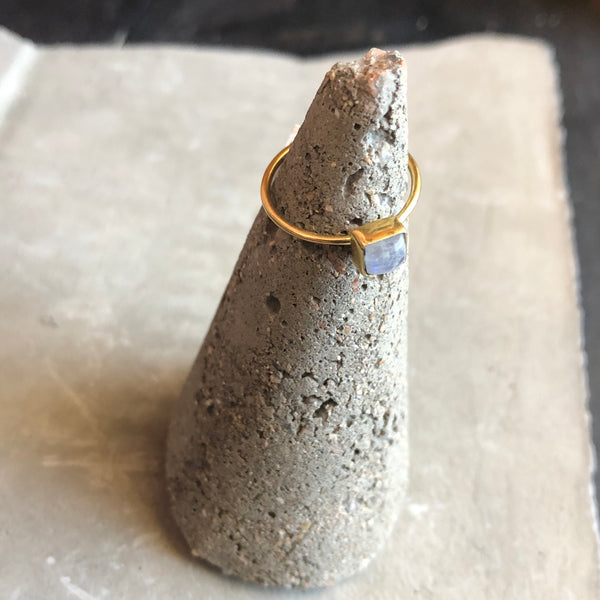 Brass Stone Stacking Ring