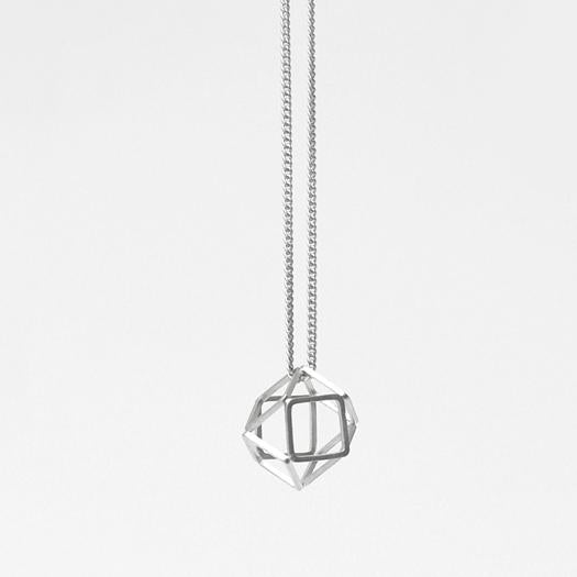 3D Hexagon Necklace