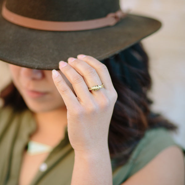 Brass Ribbon Ring