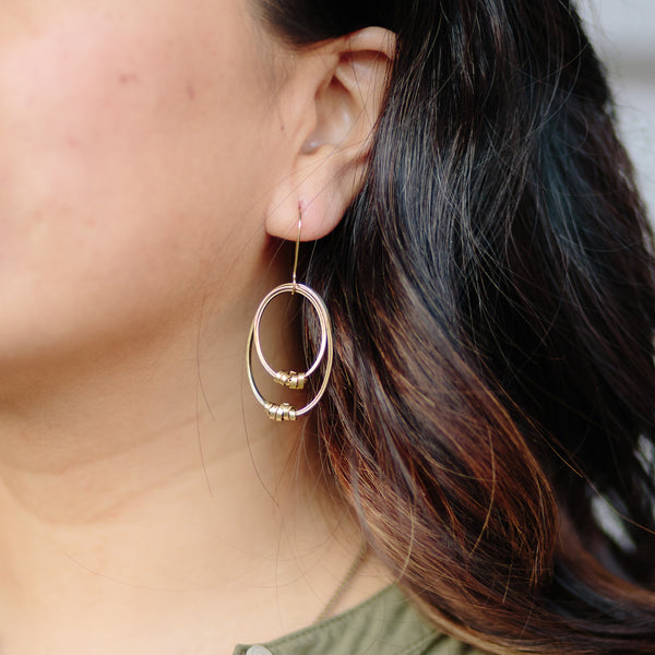 Sophie Brass Earrings