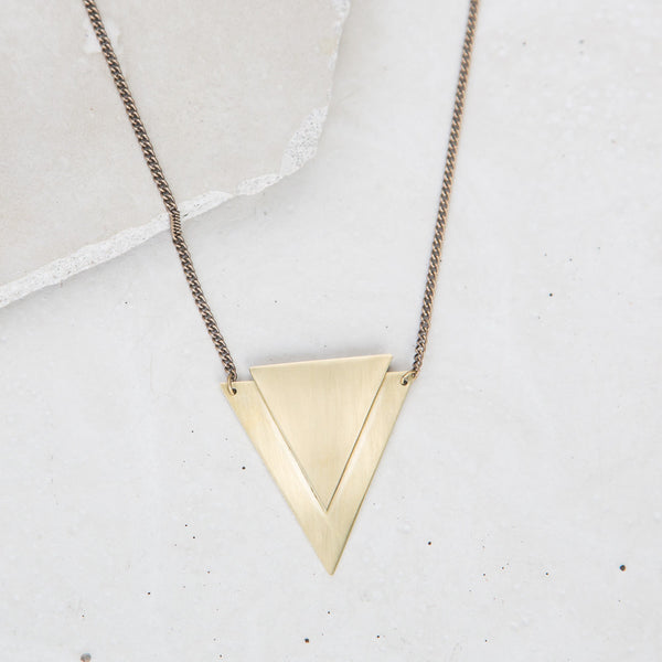 Brass Arrowhead Necklace