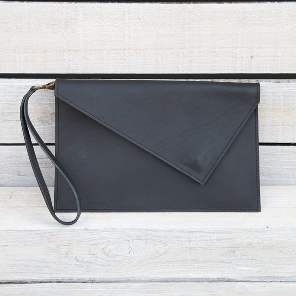 Leather Clutch in Various Colors