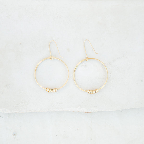 Single Hoop Brass Earrings