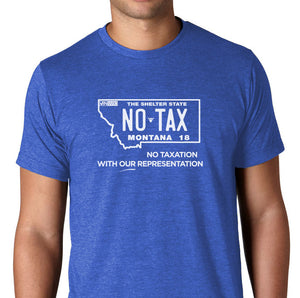 Montana No Taxation License Plate T-Shirt   - LIMITED QUANTITY