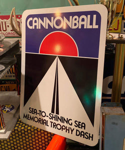 Cannonball Road Sign