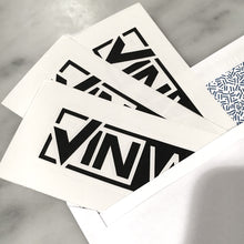 Black Die-Cut VINwiki Stickers in Envelope