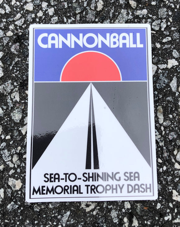 Cannonball Sticker