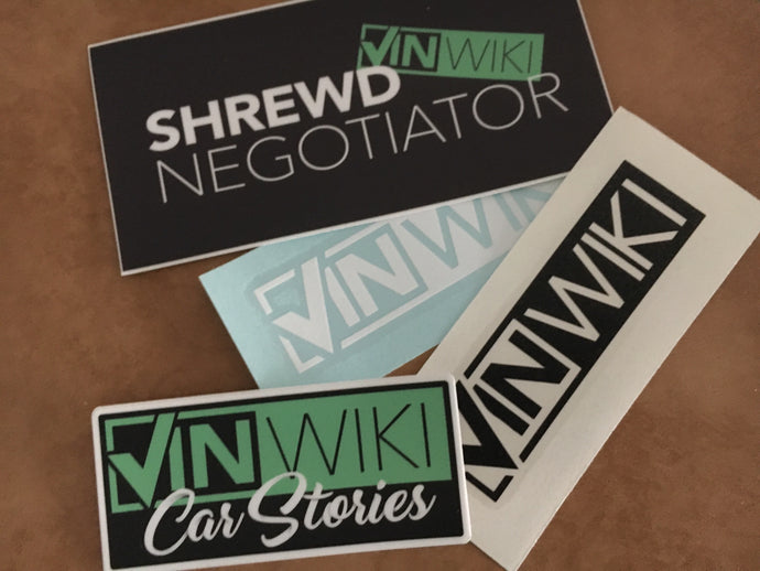 YouTube Decal Pack - Shrewd Negotiator & Car Stories & VINwiki