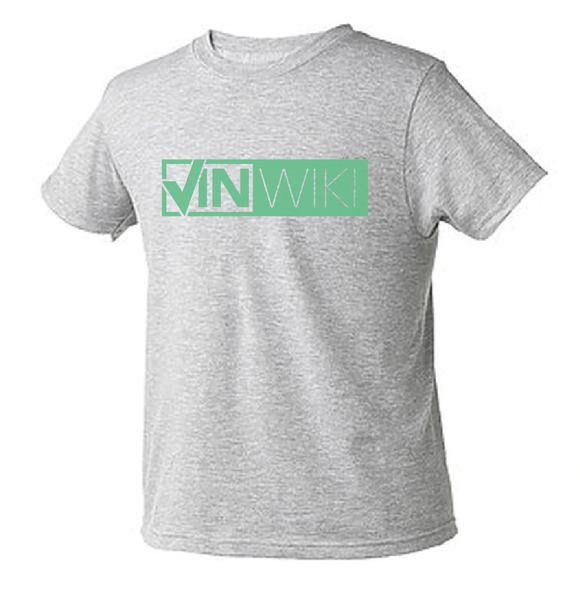 Classic Logo Youth Tee - Green over Light Grey