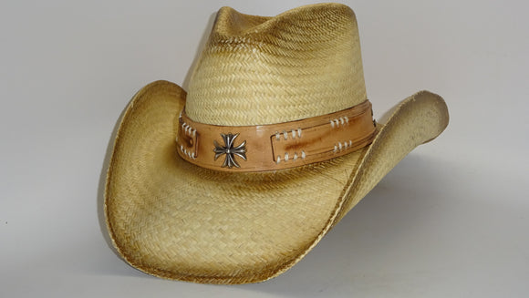 Straw Cowboy Hat CROSS by Austin