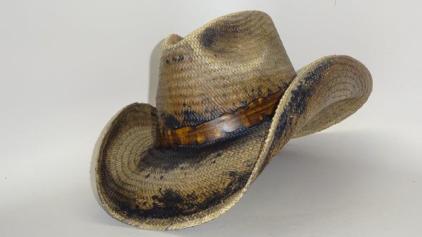 Straw Cowboy Hat DARK GRAY FIRE by Austin