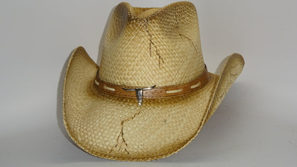 Straw Cowboy Hat OPEN RANGE by Austin, just one