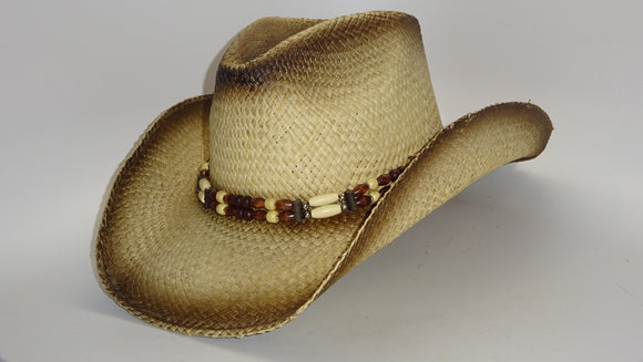 Straw Cowboy Hat SEA SHELL by Austin