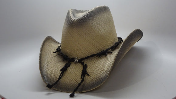Straw Cowboy Hat BARBED WIRE by Austin