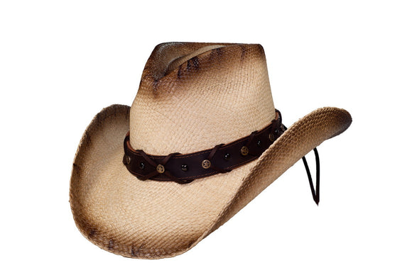 LONE STAR Austin Panama Straw Cowboy Hat with Pinchfront Crown