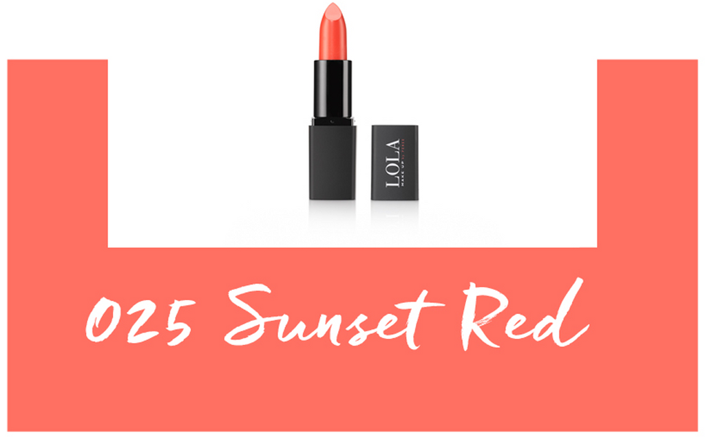 Lola make up ultra shine lipstick 025 sunset red